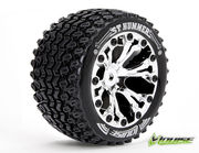 Louise 1:10 ST-Hummer 2.8 inch Truck Tire Mounted on Chrome Rim - 1:2 Offset - Soft (2)