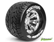 Louise 1:8 3.8 Inch Monster Tire MT-Rocket Mounted On Chrome Wheel - 0 Offset - Soft (2)