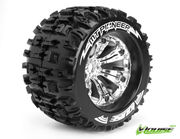 Louise 1:8 3.8 Inch Monster Tire MT-Pioneer Mounted On Chrome Wheel - 1:2 Offset - Sport (2)