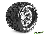 Louise 1:8 3.8 Inch Monster Tire MT-Uphill Mounted On Chrome Wheel - 1:2 Offset - Sport (2)