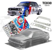 TeamC BMW E30 M3 1:10 Touring Car body 190mm - Maalaamaton