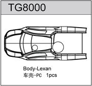 TeamC T8TE Body Clear Lexan