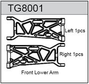 TeamC Front Lower Arm For T8T(E)  (2)