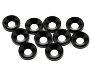 Tekno RC M4 Countersunk Washers (black anodized, 10pcs)