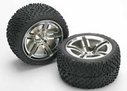 Traxxas Victory Tires Pre-Glued On Twin Spoke Wheels, Rear (2)