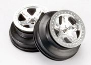Traxxas 5874 - Short Course Chrome SCT Wheels - Chrome Beadlock - 12mm Hex (2WD Front)