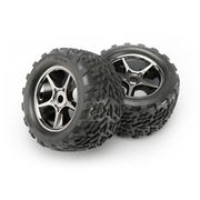 Traxxas 5374X - Talon Tyres Pre-Glued On Chrome Wheels (for 17mm splined wheel hubs & nuts)