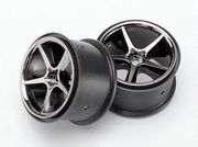 "Traxxas Black Chrome Gemini Wheels 2,2"" (2)"