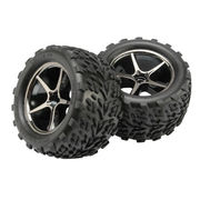 Traxxas Tires and wheels, assembled, glued (2)