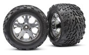 Traxxas Talon Tyres Pre-Glued on All-Star Chrome Wheels (2.8 Inch) (2)