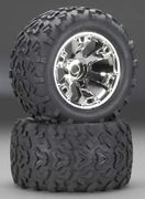 "Traxxas Tires & Wheels Maxx/Geode (17mm) 3,8"" (2)"