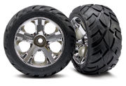 "Traxxas Tires & Wheels Anaconda/AllStar Chrome 2,8"" (2)"