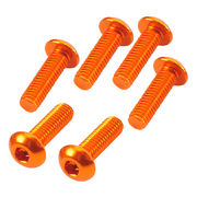 TeamC Aluminum M3x10 Button Head Screw - Orange (6)