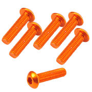 TeamC Aluminum M3x12 Button Head Screw - Orange (6)