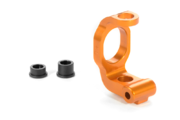 Xray Alu C-Hub Front Block Left - Caster 4° - Orange