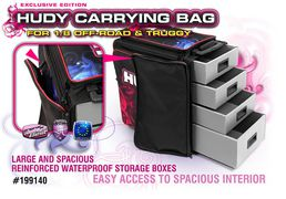 Hudy 1:8 Off-Road & Truggy Carrying Bag + Tool Bag - Exclusive Edition