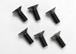 Traxxas Screws 4x10 countersunk (6)