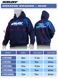 Xray Sweater Hooded - Blue (XS)