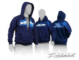 XRAY Sweater Hooded with Zipper - Blue (XS)