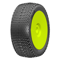 GRP 1:8 Buggy - Plus - A Soft - New Closed Cell Insert - Mounted on New Closed Yellow Wheel