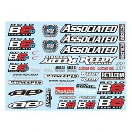 Team Associated B6/B6D Decal Sheet