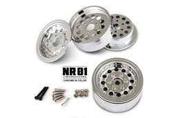 GMADE 1.9 NR01 Beadlock Wheels - Chrome (2)