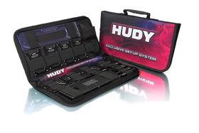 Hudy Complete Set of Set-up Tools + Carrying Bag - For 1:10 Touring Cars