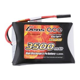 Gens ace 3500mAh 3.7V TX 1S1P Lipo Battery Pack with JR Plug - MT44