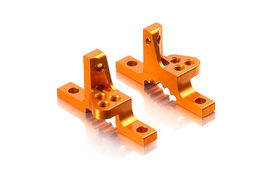 Xray T3 Alu Upper Clamp With Adj. Roll-Center (L+R) - Orange