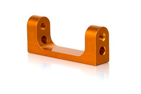 Xray T3 Alu Lower Rear Suspension 1-Piece Holder - Orange