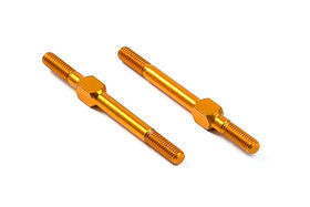 Xray Alu Adj. Turnbuckle M3 L/R 39 mm - Orange - Swiss 7075 T6 (2)