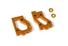 Xray Alu Radio Plate Mounts (L+R) - Swiss 7075 T6 - Orange