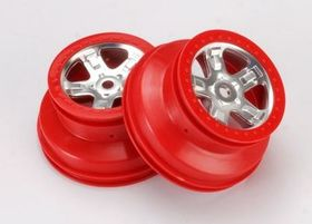 Traxxas Wheels SCT Red Beadlock (14mm Hex) (2)