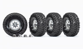 "Traxxas Tires & Wheels 1.9"" Resto-Mod (for TRX8255A Axle) (4)"