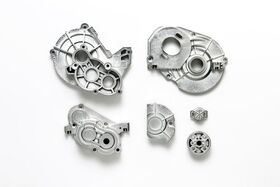 Tamiya CC-02 A Parts (Gearbox) - Matte Plated