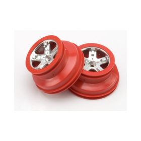 "Traxxas Wheels 2.2/3.0"" Red 2WD Front (2)"