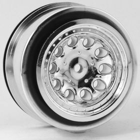 RPM Chrome Revolver Short Course Wheels - Slash 2wd Rear (2)