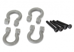 Traxxas Bumper D-Rings Grey (4)