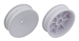 "Associated 2WD Slim Front Wheels, 2.2"" 12mm Hex White (2)"