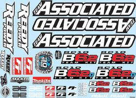 Team Associated RC10B6.2 Decal Sheet