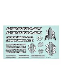 Arrowmax Decal sheet - 14x21cm - Silver