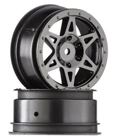 Arrma Raider Front Wheel (Black Chrome) (2)