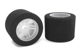 Team Corally Attack foam tires 1/8 Circuit 35 shore Rear Light rims (2)