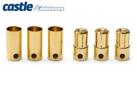 Castle 6.5mm Bullet Connectors 3pair 200A