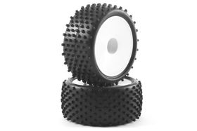Fastrax 1:10th Mounted Buggy Tyres LP 'Stub' Rear