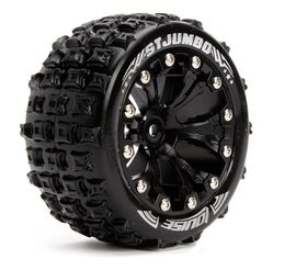 Louise 1:10 ST-Jumbo 2.8 inch Truck Tire Mounted on Black Rim - 1:2 Offset (2)
