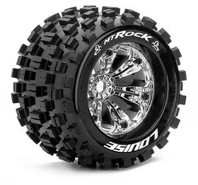 "Louise Tire & Wheels MT-ROCK 3,8"" Krom 0-offset (2)"
