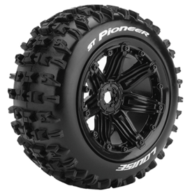 Louise Tires & Wheels ST-PIONEER 1/8 Truck (Beadlock) Black (2)