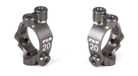 Team Losi Racing Castor Block Set, 20 degrees, Aluminum: 22-4