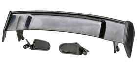 Hobbypro Plastic Rear Wing + Side Mirrors